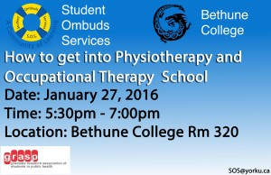 How to get into Physiotherapy and Occupational Therapy School January 2015